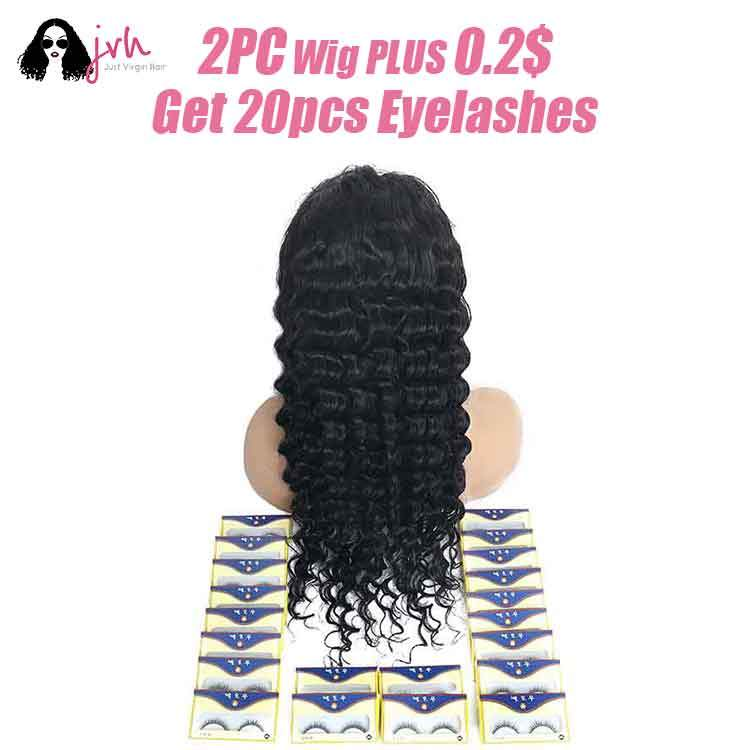 Buy one wigs plus 1USD get 100pcs eyelashes