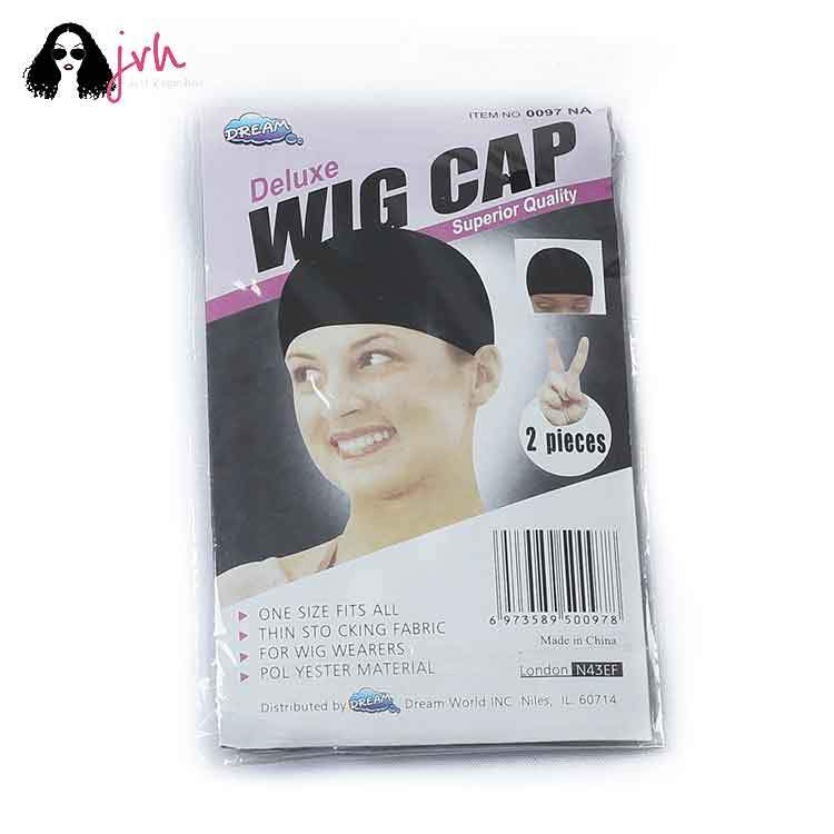JVH Pack of 2 Wig Cap Open End Black Mesh Net Liner Weaving Cap