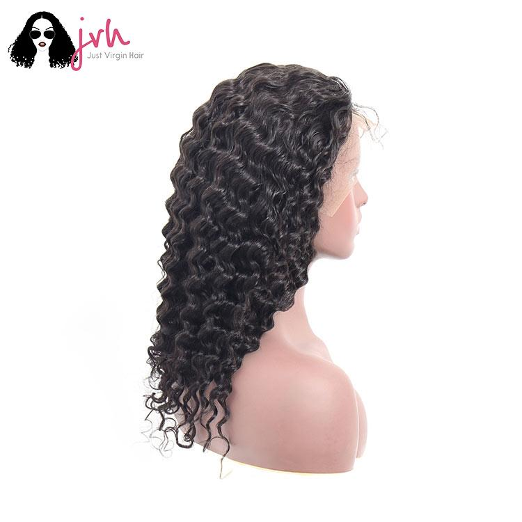 Human Hair Lace Front Wigs For Black Women Deep Wave 13*4 150% Density
