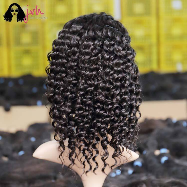 Ladies Short Human Hair Wigs For Black Women On Sale Bob Deep Wave 13*4 150% Density