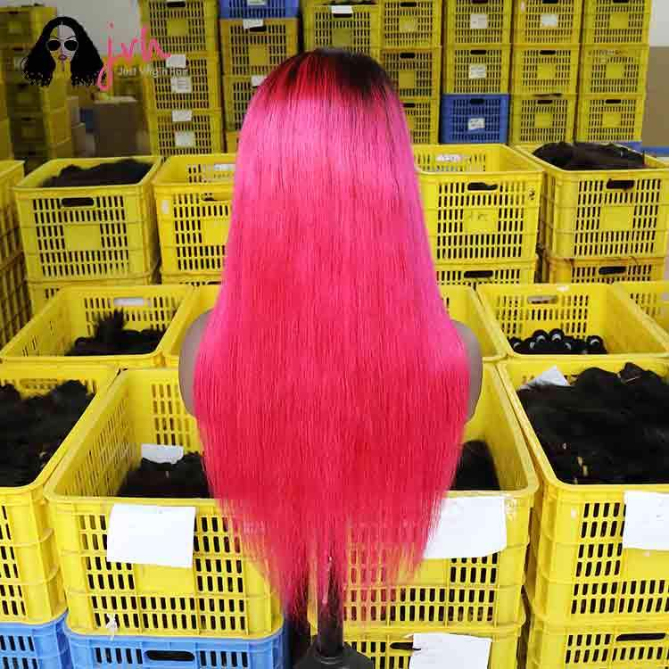 Pink Natural Looking Lace Front Wigs For Women 13*4 150% Density