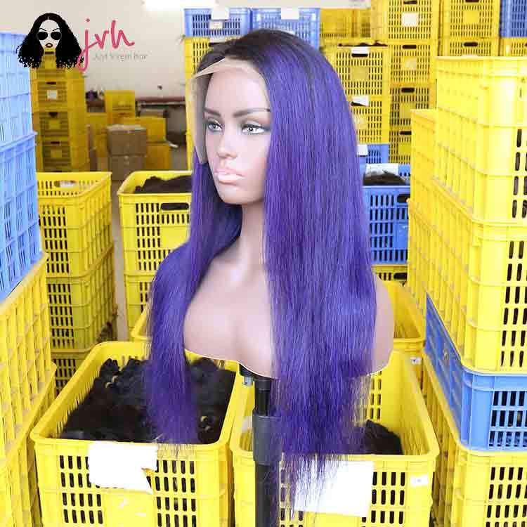 Purple Lace Front Wigs Online 13*4 150% Density