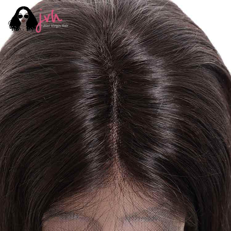 Real Human Hair Wigs For Black Women Natural Straight 13*4 150% Density