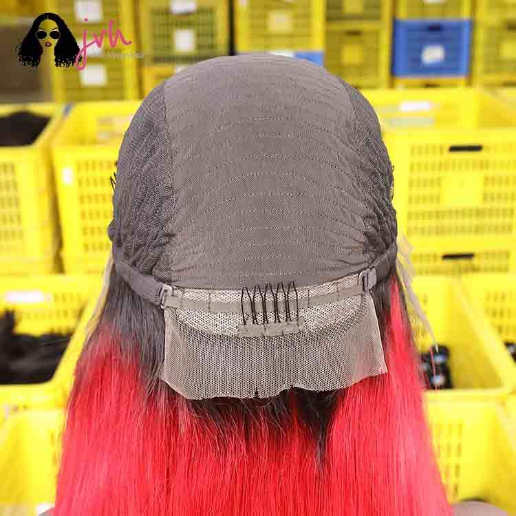 Red Long Lace Front Wigs For Sale 13*4 150% Density