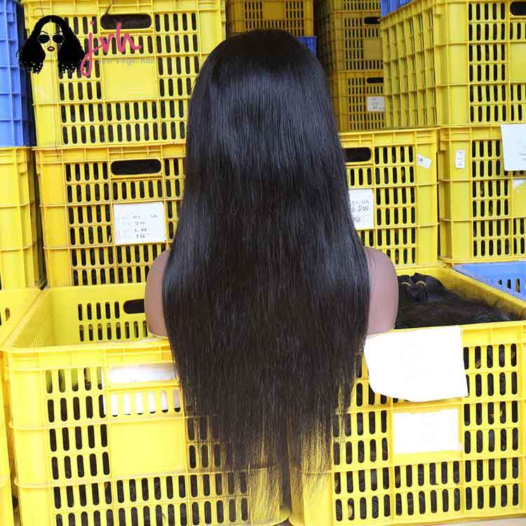 Transparent 100 Human Lace Front Wigs With Baby Hair Natural Straight 13*4/13*5 130%/150% Density