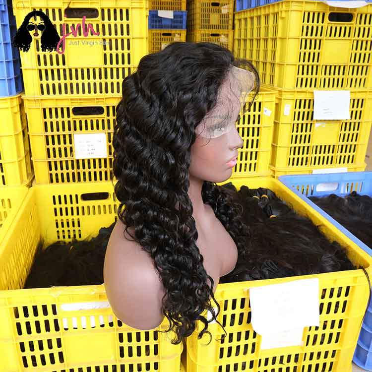 Transparent Natural Black Human Hair Wigs Manufacturers Loose Wave 13*4/13*5 130%/150% Density