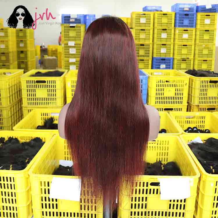 Brown 99J Lace Front Wig Styles 13*4 150% Density