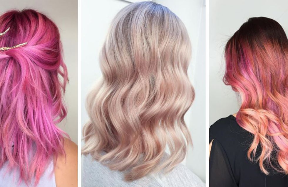 2020 Hair Color Trend - Pink (Peach, Pastel Pink).jpg