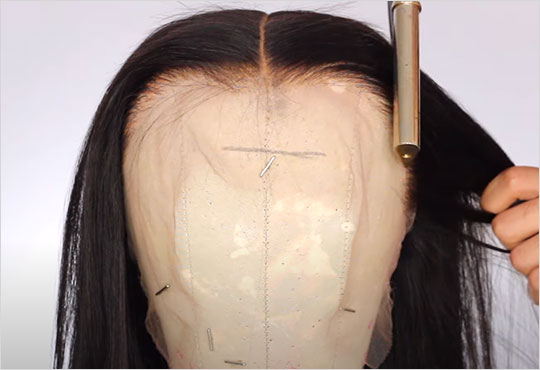 Justvirginhair - Lace Wig Hairline Plucking Step 4